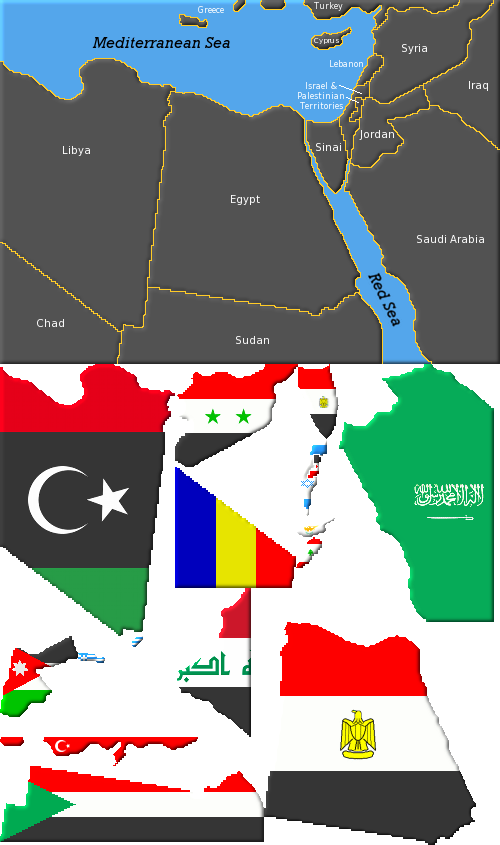 This Map Including Mouse Over National Flags Is Constructed With One