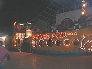 Tota's Bar at night